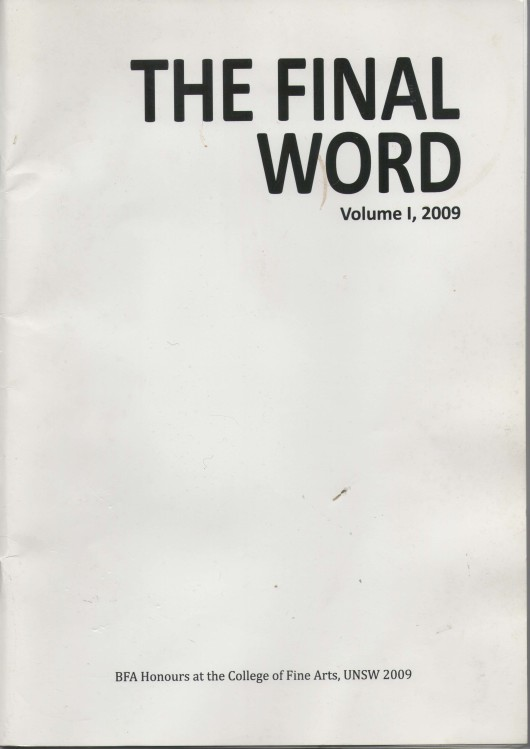 The Final word Volume 1